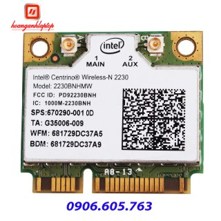 Card wifi laptop Intel Centrino Wireless N2230 Bluetooth 4.0