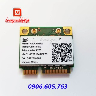 Card wifi laptop Intel Dual Band Advanced N6200 Wireless 622ANHMW 2.40GHz 5GHz 802.11 abgn 300M bps WIFI card