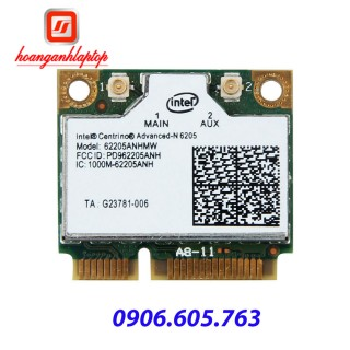 Card wifi laptop Intel Dual Band Centrino Advanced N6205 Wifi Card 62205ANHMW 300mbps