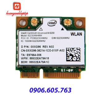 Card wifi laptop Intel dual band Centrino Advanced N6230 62230ANHU 300 Mbps PCIE Bluetooth